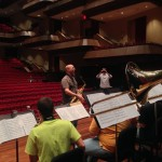 Jeff Coffin rehearsing with the Mississippians