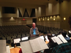 Legendary jazz arranger Mark Taylor rehearsing the Mississippians.